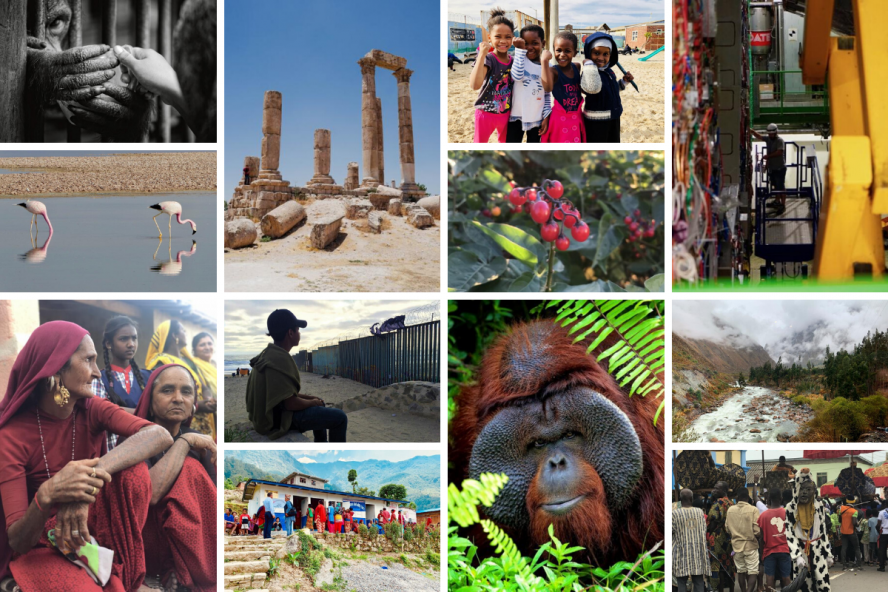 Photo collage using all of the winners from the 2019 Global Perspectives Photo Contest.