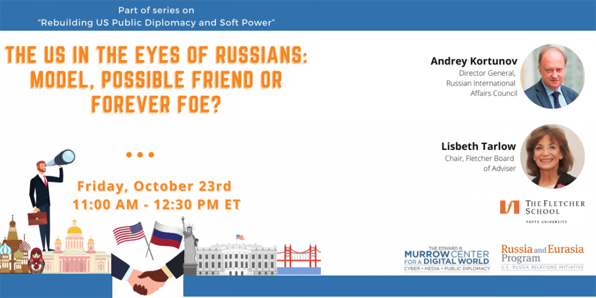 Poster for US in the Eyes of Russia Event